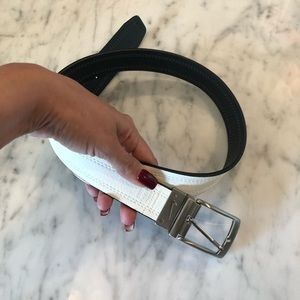 Nike REVERSIBLE black/white belt